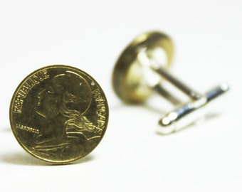 Republique Française Franc Coin Cufflinks ~ France French Money Travels French Currency Accessories
