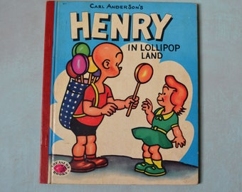 Vintage 1953 Carl Anderson's HENRY in Lollipop Land Treasure Book