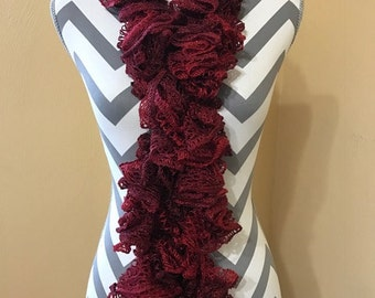 Crochet Scarf, Crochet Ruffle Scarf, Crochet Scarf, Ruffle Scarf, Woman's Crochet Scarf, Ruffled Scarf, Handmade Scarf, Frilly Scarf