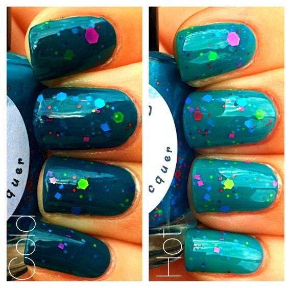 Color Changing Glitter Nail Polish Mood Nail Polish