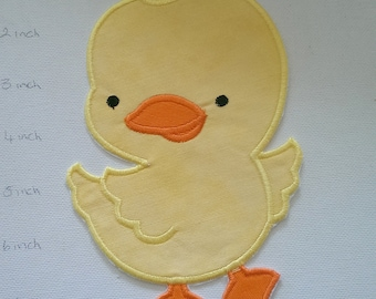 Iron On Applique Chicken, Cute Chick, Yellow Chicken