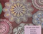 Vintage PDF Crochet Patterns Doilies Place Mats Chair SetsCenterpiece Buffet Scarf Vanity Set Lily Mills Crochet Design e Pattern Book #83