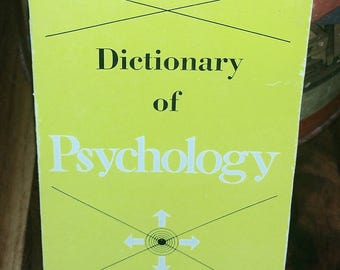 Dictionary Of Psychology Vintage Paperback Book