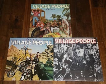 Village People Vintage Vinyl Record Lot Of 3