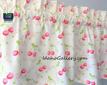 Cherries Sweet Little Cherry Valance Curtain Window Treatment by Idaho Gallery