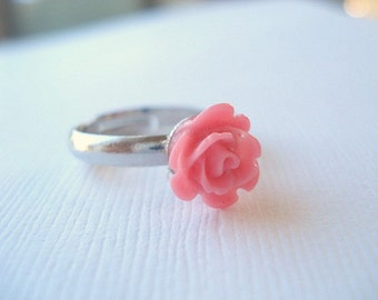 Pink Rose Ring Mothers Day Ring Ships Next Day