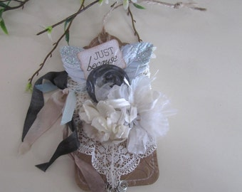 Victorian Gift Tag - Gift Tag Ornament - Lace Gift Tag - Shabby Chic Gift Tag