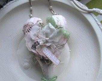 Valentine Heart - Victorian Heart Decor - Pink Valentine Heart - Friendship Heart