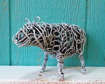 Wire, Sheep, Animal, Sculpture Handmade