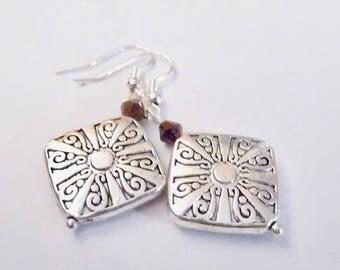 Diamond Earrings, Silver Earrings, Dangle Earrings, Crystal Earrings, Pendant Earrings, Charm Earrings
