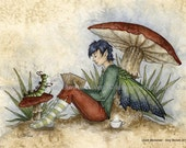 5x7 Quiet Moment reading fairy PRINT by Amy Brown