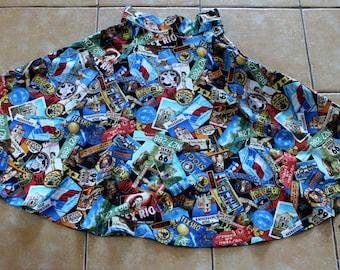 Skirt / Vintage styled / 1950 pattern / Western / Cowboy /  50's / Vintage Style / Cotton / OOAK / Pinup / Handmade / Retro design