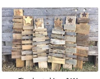 Custom reclaimed wood christmas trees