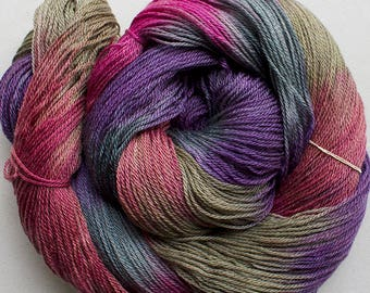 Firefly, hand dyed yarn, Superwash/Tencel, 4 oz, 412 yds - Desert