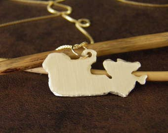 CANADA Necklace, Gold Canada Pendant , Custom Made -ALL Countries Available