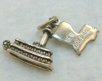 New Orleans Steamboat Charm Vintage