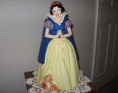 VINTAGE COOKIE JAR Snow White and the 7 Dwarfs   Mint Condition
