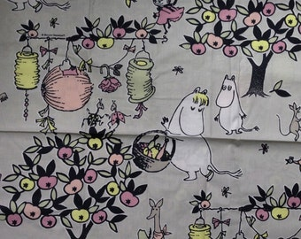 Moomin beige Cotton Fabric for various projects, from Finland