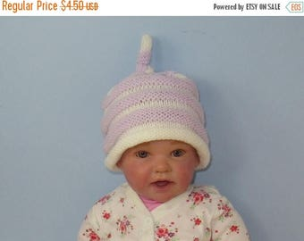 50% OFF SALE Instant Digital File pdf download Baby Beehive Topknot Roll Brim Beanie hat pdf knitting pattern