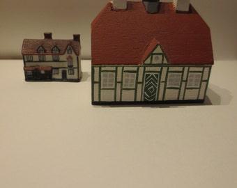 Village- European  Miniature village pieces-2 pieces