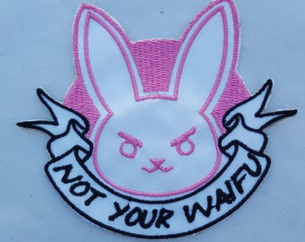 DVa 'Not Your Waifu' patch Overwatch punk feminist girl gang
