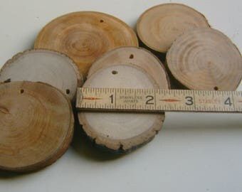 500 Slices Reclaimed Wood  Wholesale lot  2 to 2.5 inch  Assorted Drilled