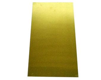 "Yellow Brass Sheet 16ga 12"" x 6"" 1.30mm Thick"