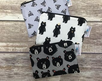 Reusable Snack Bag, Reusable Zipper Bag, Reusable Sandwich Bag, Zipper Pouch, Reusable, Bear Snack Bag, Lunch Bag, Reusable Bag, Fox Bag