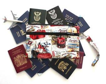 Family Passport Case - Family Passport Holder - Passport Cover - Family Travel Wallet - Travel Document Organizer - Boarding Pass Wallet