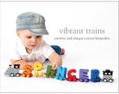 Custom Alphabet Name Train Order for SOPHIE by Vibrant Trains