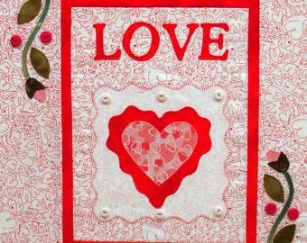 Handmade Love An Appliqued Quilt Block