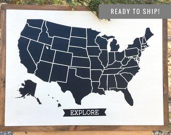 READY TOSHIP USA Travels Board Travel Tracker