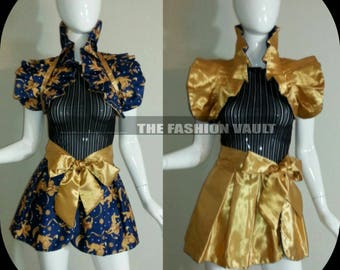 Sample sale Sample Reversible Cosplay burlesque skirt and collar bolero wrap  Angel