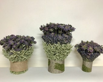 Dried lavender & Mint Wedding Bouquet Ceremony Table Centerpieces Mother's Day// Made and Grown in the USA //Easter and Spring Centerpieces