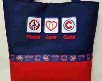 Chicago Cubs, Peace, Love Cubs, Purse #2