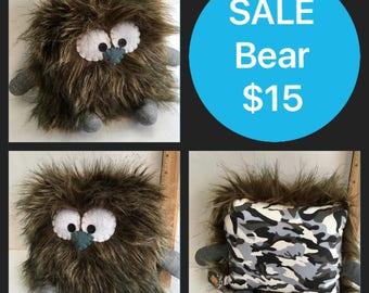 SALE Bear the Pillow Pal Monster