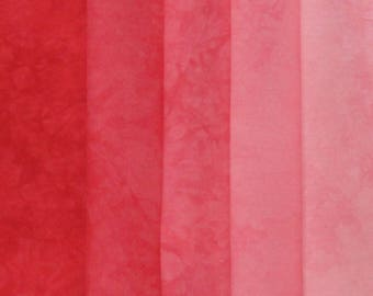 Hand Dyed Fabric Shades - Valentine