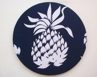 Pineapple Mouse Pad mouse pad / Mat - pineapples -  round or rectangle - office accessories desk home decor