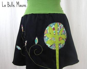Yuki skirt green and black trees