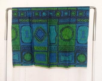 Vintage Deadstock Screen Printed Linen