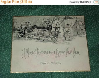 SALE- 1920s, Christmas Card, Excellent Condition