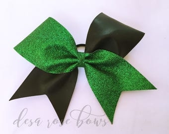Green and Black Tick Tock Bow