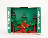 Vintage 1960s Kitsch Christmas Electric Bubbling Candelabra in Box VGC