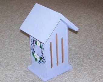 Butterflyhouse With Hand Painted Flowers