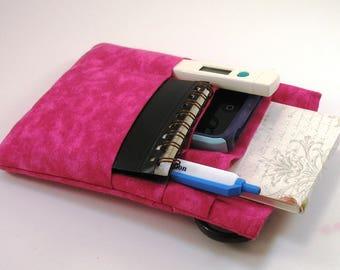 Nurse or Doctor scrubs pocket organizer,  lab coat pocket organizer - Hot Pink- Ready to Ship