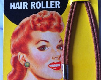 Rare Vintage Hair Rollers Curlers for 1940s Pin-up Hairstyles Large Victory Rolls WWII Wartime Homefront