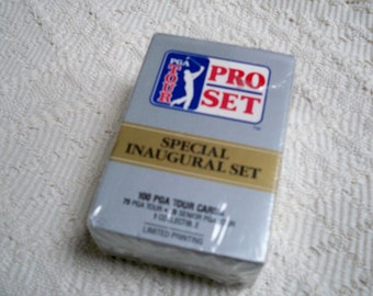 Vintage Sports Collectible Golf PGA Tour Pro Set 100 Tour Cards Limited Printing 1990