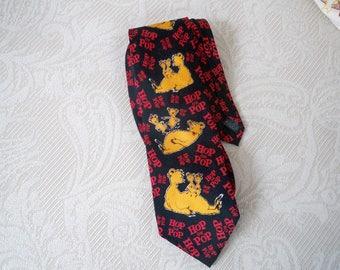 Vintage Accessory Dr. Seuss Hop On Pop 1996 Necktie Silk Necktie