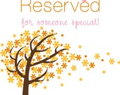 Reserved for Glen and Julia
