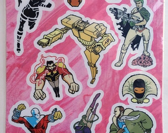 Copra Stickers - SET A - The Heroes Sheet